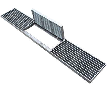 HDB Type – Apron Drain Grating With Hinged Panel